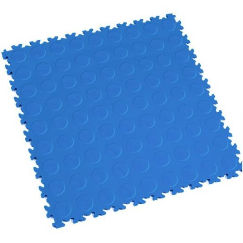 Electric Blue Cointop - Motolock Interlocking Floor Tile